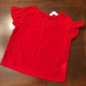 Toddler girl ruffle sleeve blouse